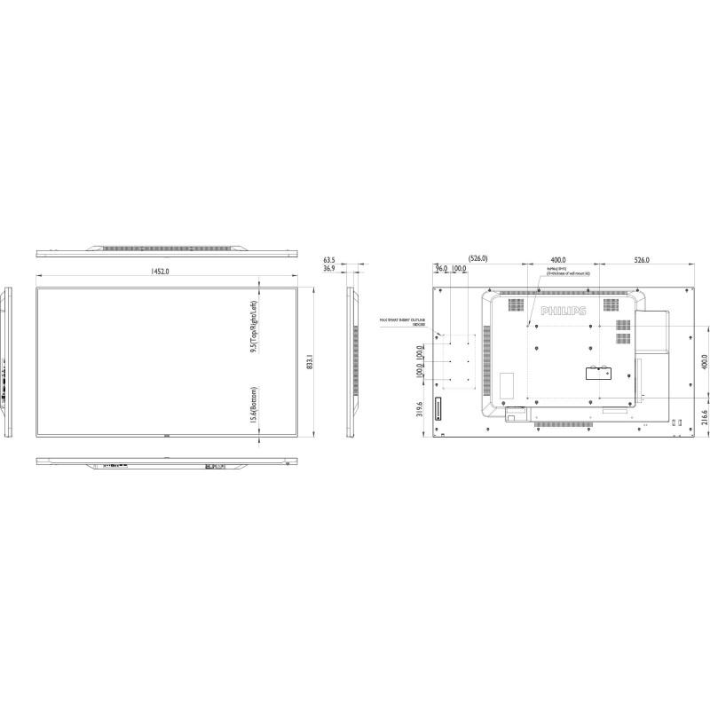 Moniteurs LED/OLED PHILIPS 65BDL4050D/00