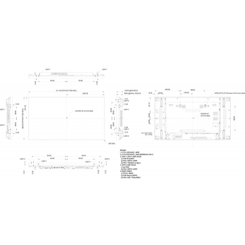 Moniteurs LED/OLED PHILIPS 55BDL1007X/00