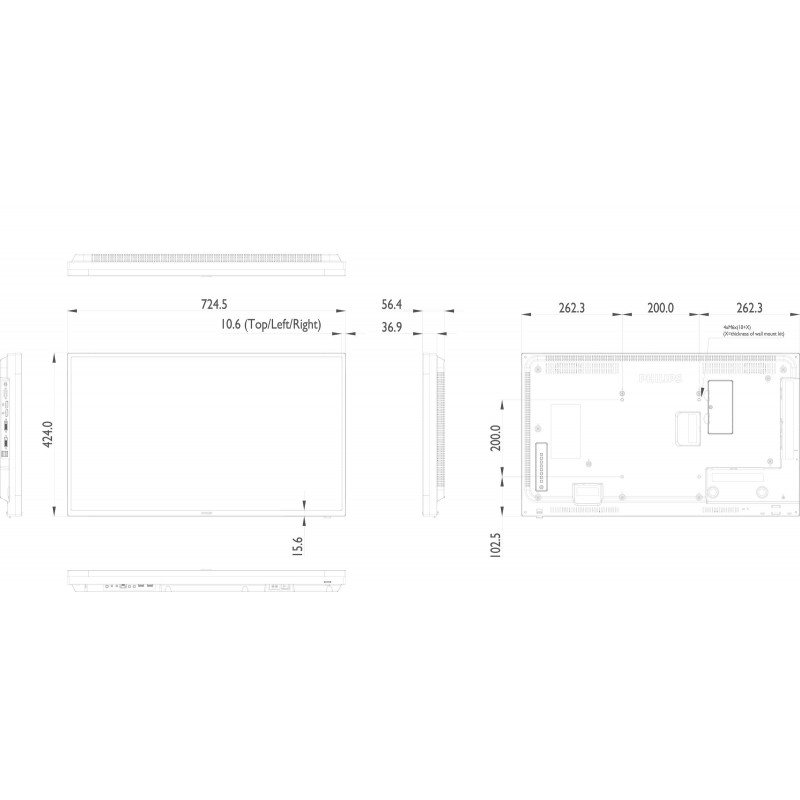 Moniteurs LED/OLED PHILIPS 32BDL4050D/00