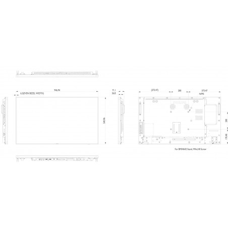 Moniteurs LED/OLED PHILIPS 42BDL5057P/00