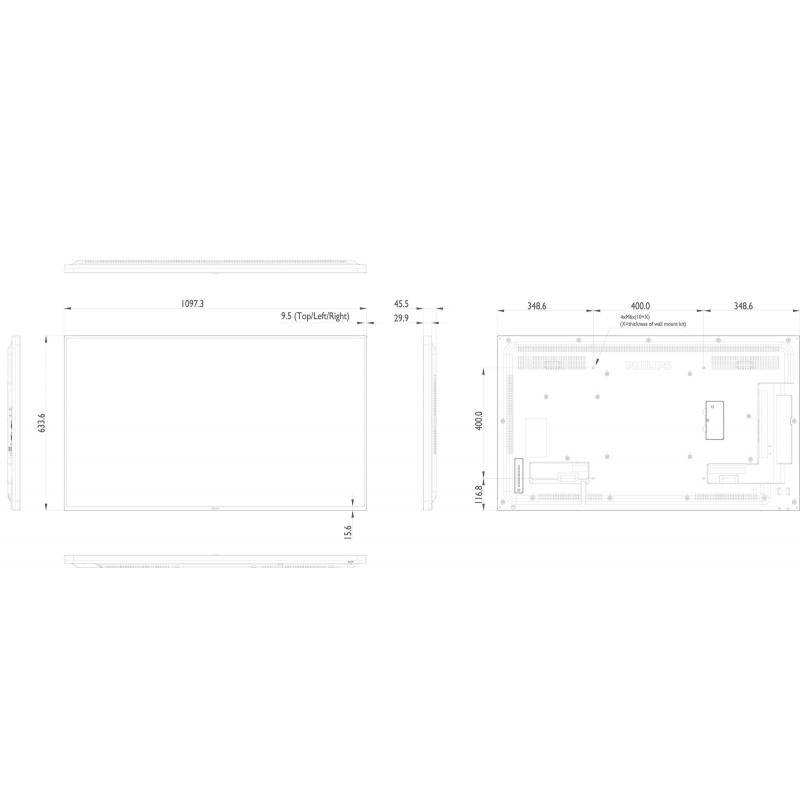 Moniteurs LED/OLED PHILIPS 49BDL4050D/00