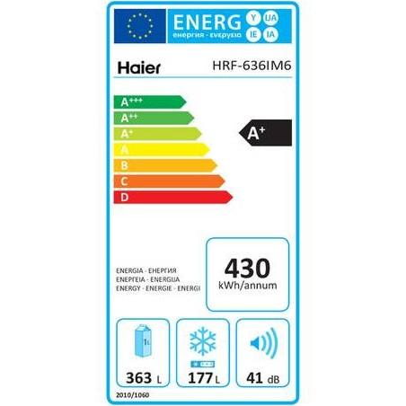 Réfrigérateur congélateur HAIER HRF636IM6