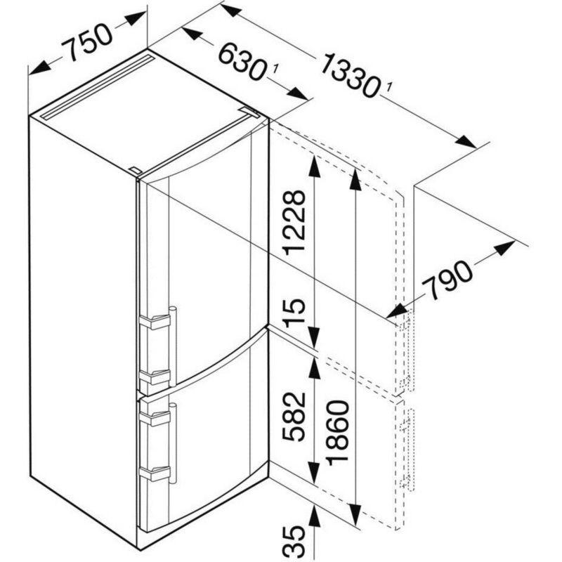 Réfrigérateur congélateur LIEBHERR CNPESF4613-21