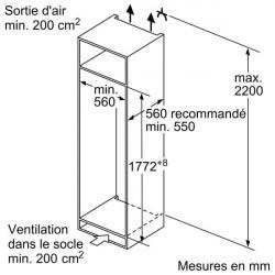 Réfrigérateur BOSCH KIR81VSF0