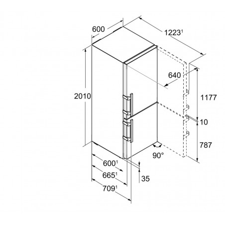 Réfrigérateur congélateur LIEBHERR CBNES4898-21