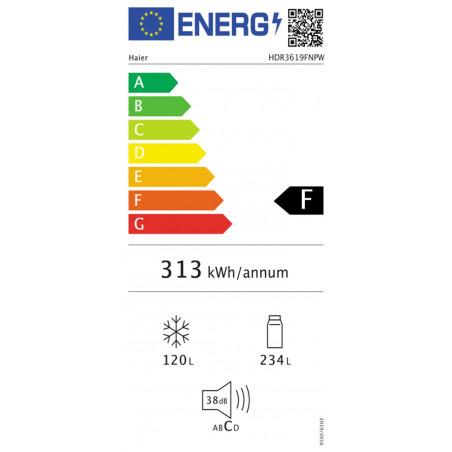 Réfrigérateur congélateur HAIER HDR3619FNPB