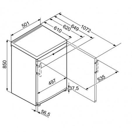 Réfrigérateur congélateur LIEBHERR KTS127-21