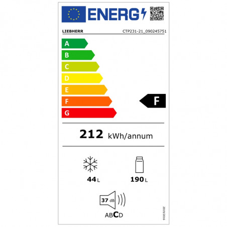 Réfrigérateur congélateur LIEBHERR CTP231-21