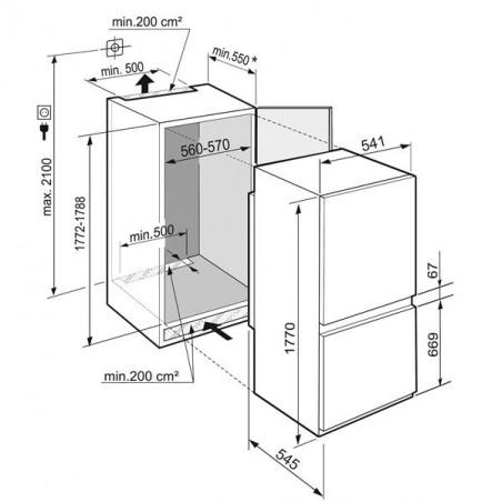 Réfrigérateur congélateur LIEBHERR ICNSF5103-20