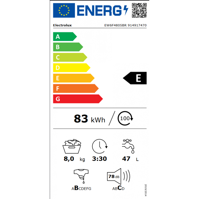 Lave Linge ELECTROLUX EW6F4805BR