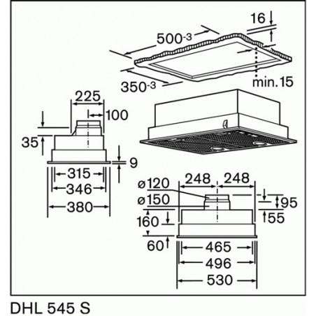 Hotte BOSCH DHL545S