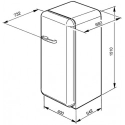 Réfrigérateur SMEG FAB28RNE1