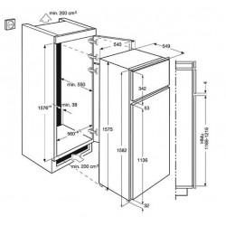 Réfrigérateur congélateur ELECTROLUX EJN2710AOW