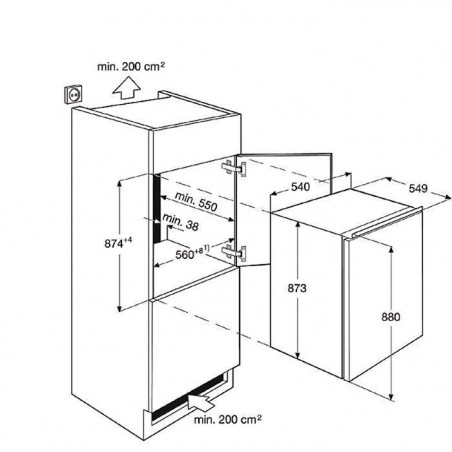 Réfrigérateur ELECTROLUX ERN1402AOW