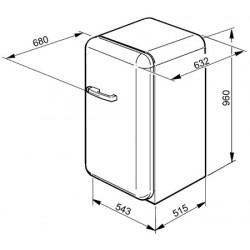 Réfrigérateur SMEG FAB10LUJ