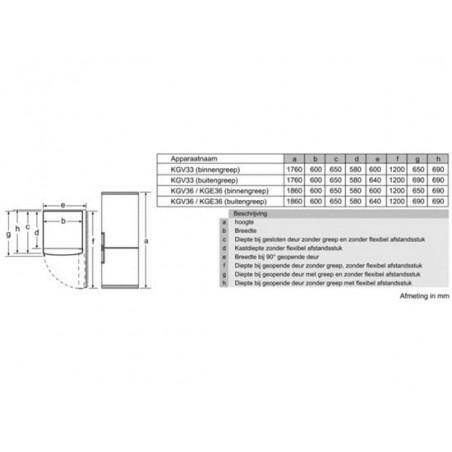 Réfrigérateur congélateur BOSCH KGV33VW31S