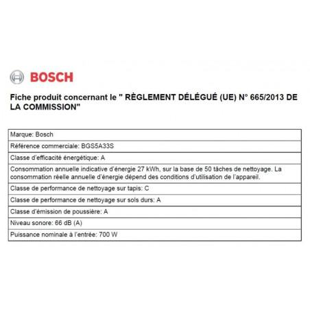 Aspirateur BOSCH BGS5A33S