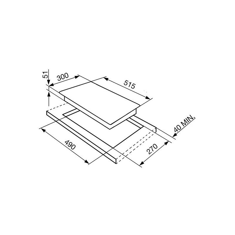 Plaque de cuisson SMEG SI5322B
