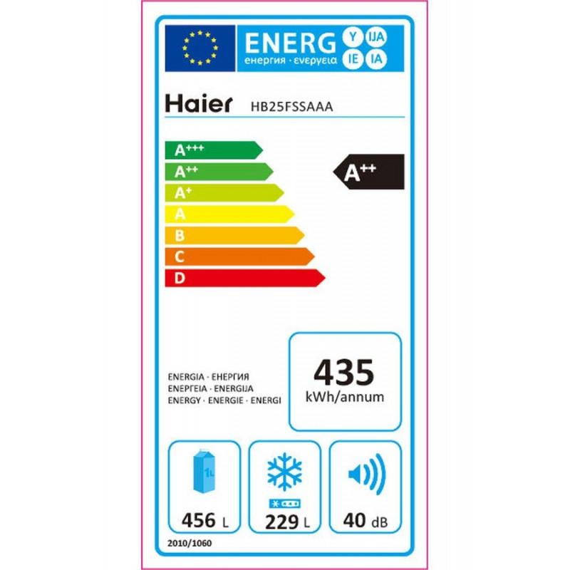 Réfrigérateur congélateur HAIER HB25FSSAAA