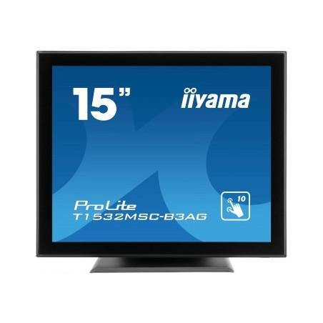 """iiyama ProLite T1532MSC-B3AG 15"""" 1024 x 768pixels Capacité Noir moniteur à écran tactile"""