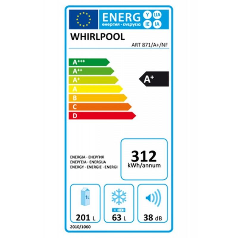 Réfrigérateur congélateur WHIRLPOOL ART 872/A+/NF