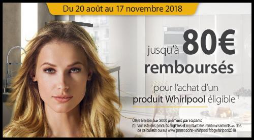 ODR Whirlpool jusqu'à 80€ remboursés