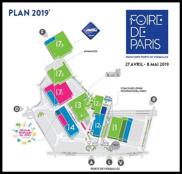 Plan foire de paris avril 2019 Planète Technologie